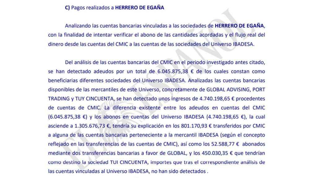 Las empresas de Herrero de Egaña ingresaron al menos 4,7 millones por el mercado construido en Angola.