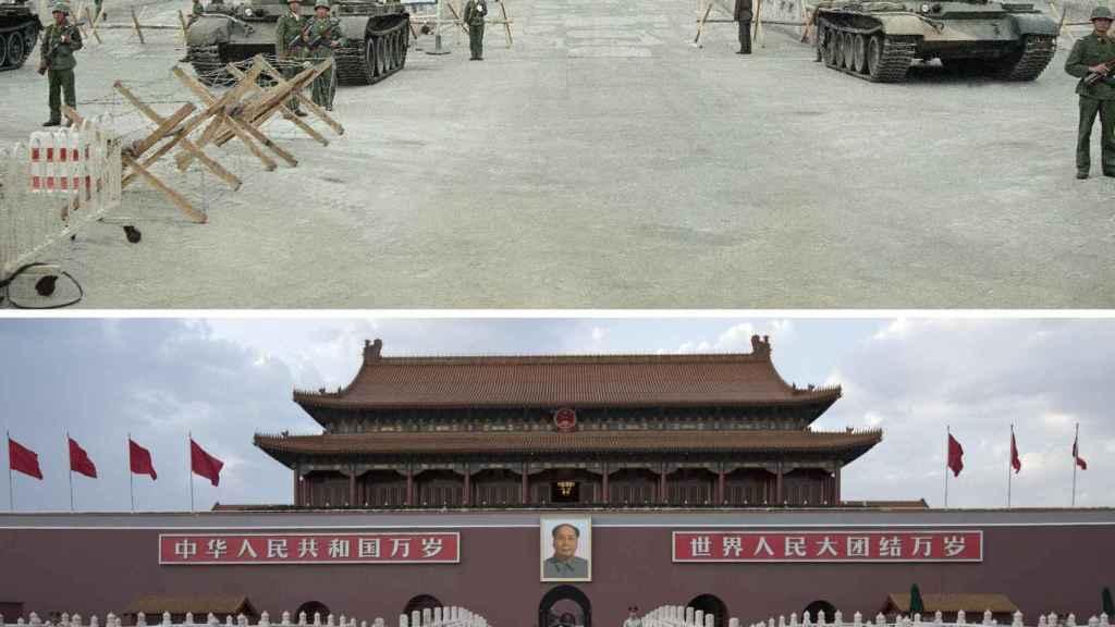 Tiananmén en 1989.