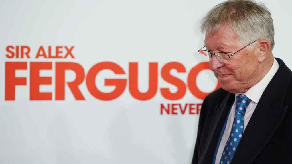 Sir Alex Ferguson en la presentación de su documental