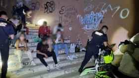 Dispositivo de la Policía de Alicante en horario de toque de queda nocturno.