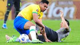 Casemiro, con la selección de Brasil