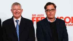 Alex Ferguson y su hijo y director del documental Jason