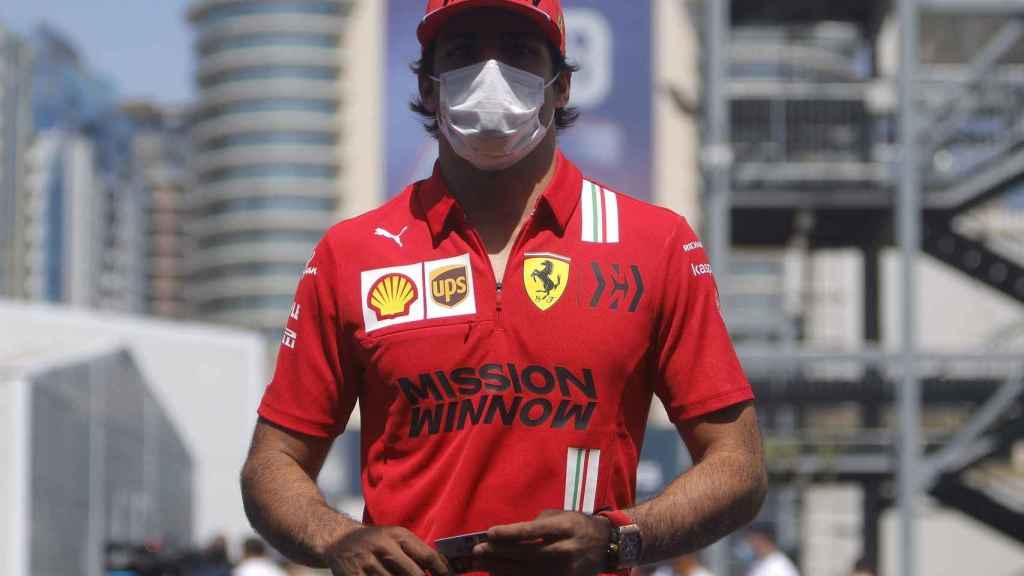 Carlos Sainz en el Gran Premio de Bakú