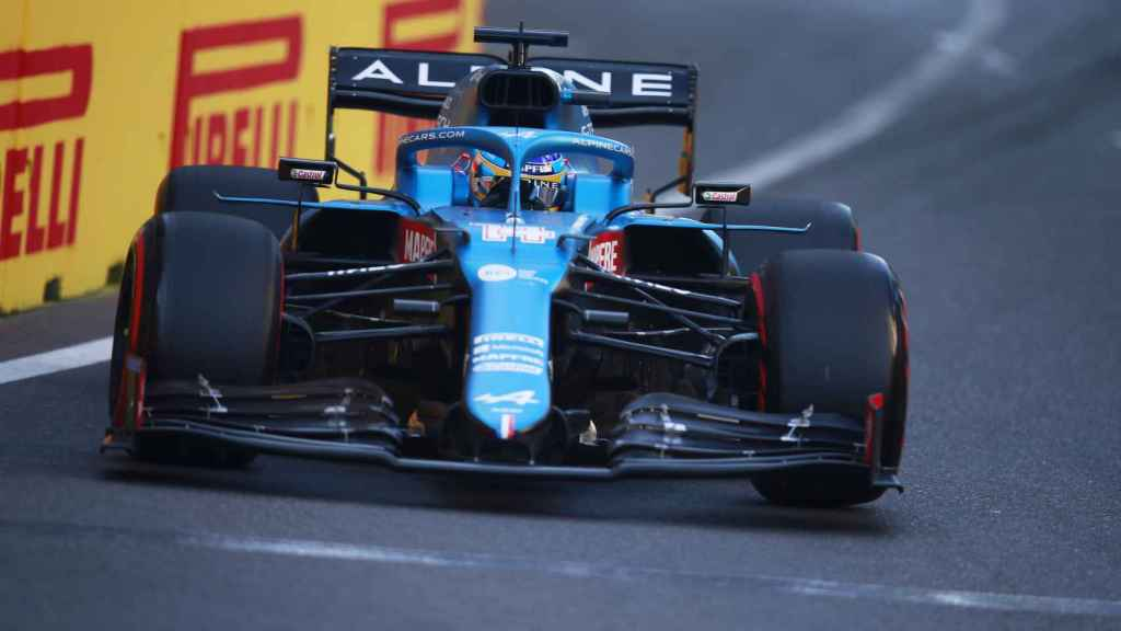 Fernando Alonso en el Gran Premio de Bakú de Fórmula 1