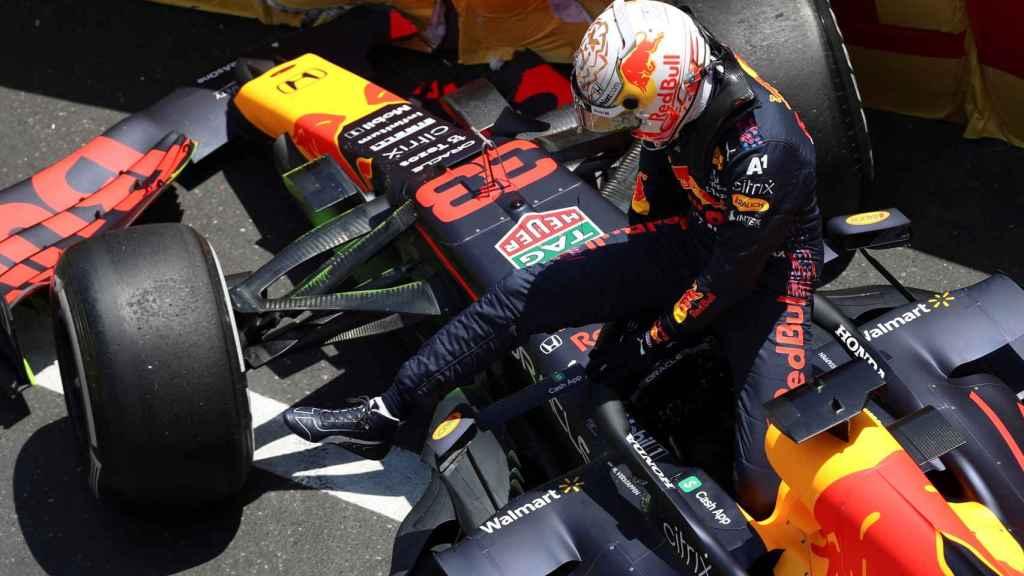 Accidente de Max Verstappen en Azerbaiyán