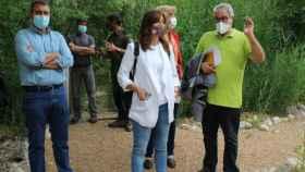 Blanca Fernández durante la visita a 'El Chaparrillo'