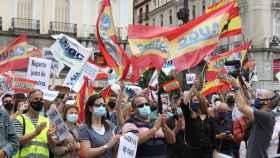 Manifestación de guardias civiles en Madrid.
