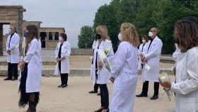 Homenaje a los médicos fallecidos por la Covid en Madrid.