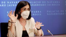 Carolina Darias, ministra de Sanidad, durante el Consejo Interterritorial del pasado 2 de junio.