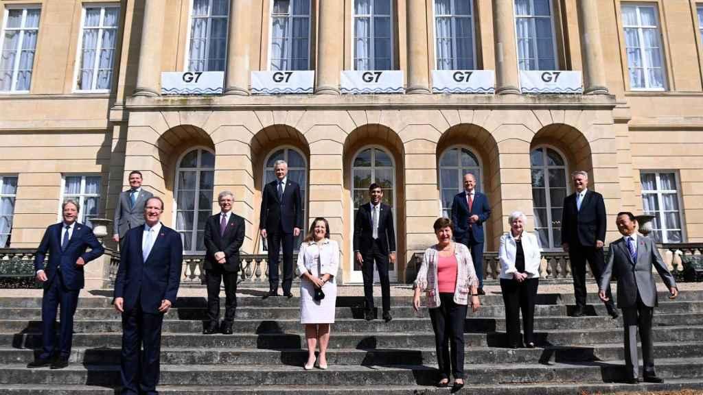 Los ministros de G-7 reunidos en Londres.