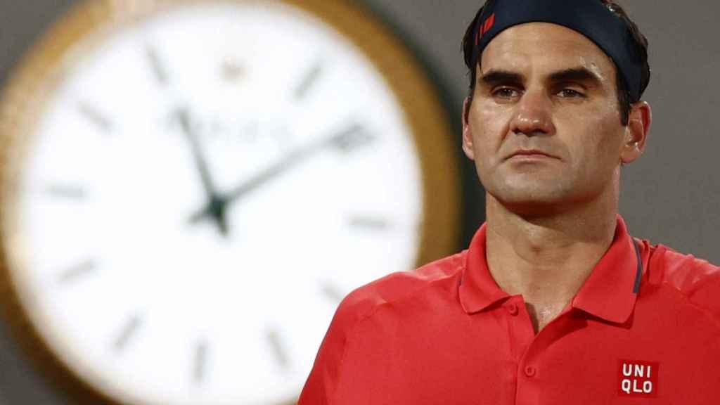 Federer, durante la tercera ronda de Roland Garros.