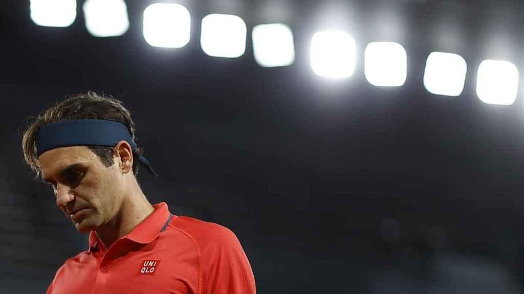 Federer, en un momento del partido ante Koepfer.