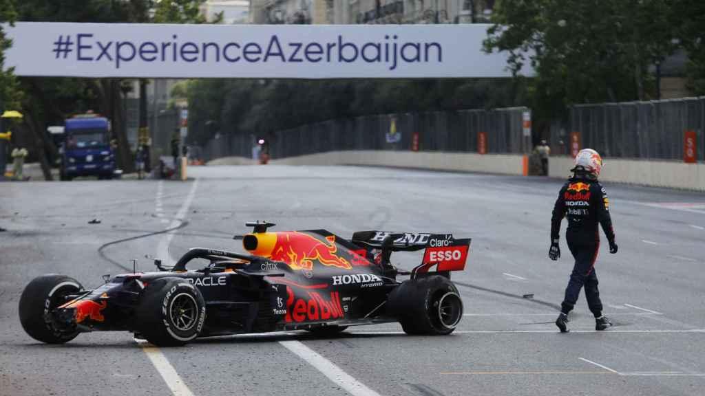 Max Verstappen y su accidente durante el Gran Premio de Azerbaiyán de 2021