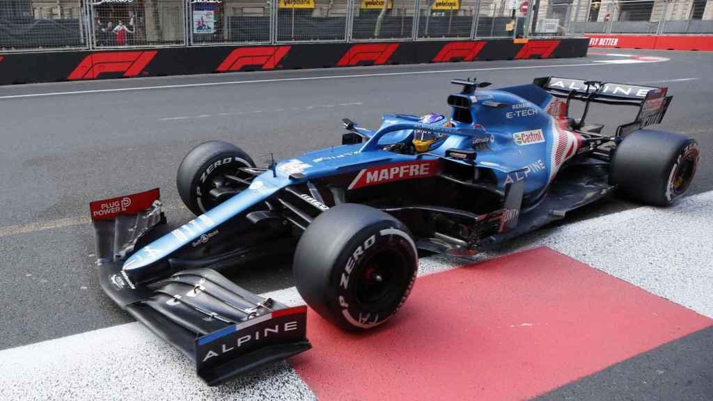 Fernando Alonso en el Gran Premio de Azerbaiyán de Fórmula 1