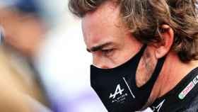 Fernando Alonso, concentrado en el Gran Premio de Azerbaiyán