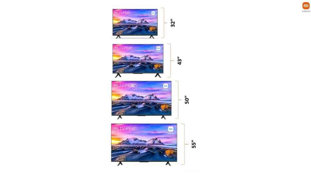 Modelos de la Xiaomi Mi TV P1