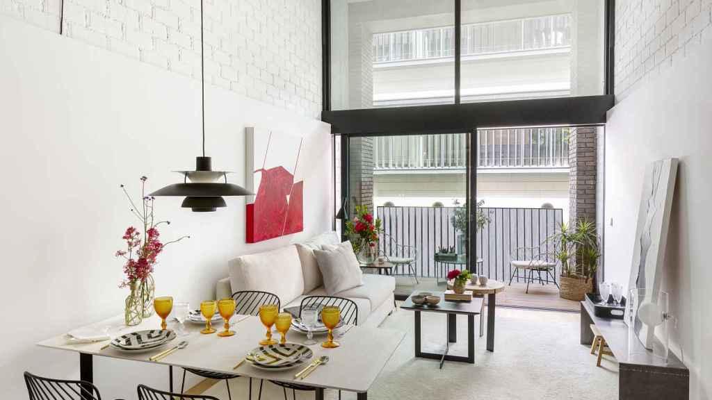 Imagen de uno los lofts que componen 'Alcántara 25'.