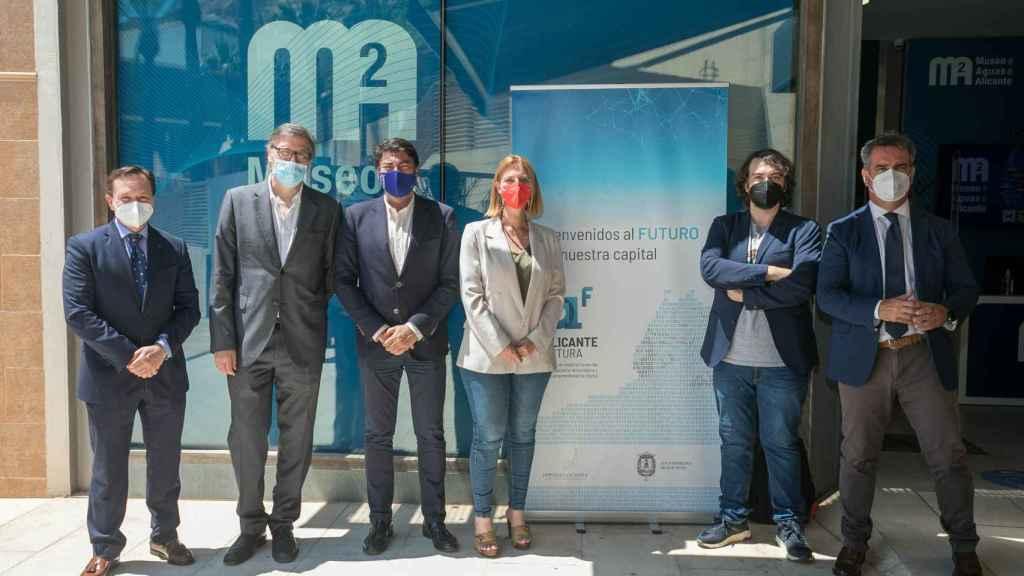 Los participantes en el encuentro de Alicante Futura.