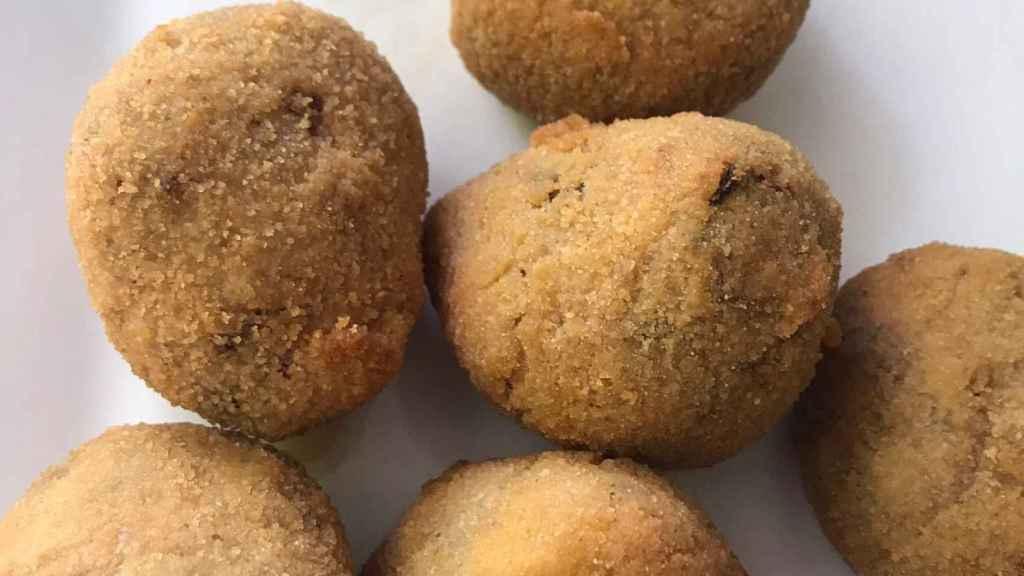 Las croquetas de cocido de la Taberna de Gúchil.