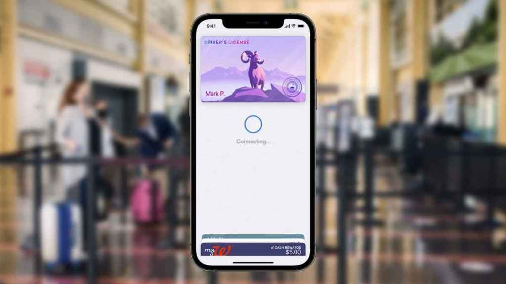 App de Wallet en iOS.