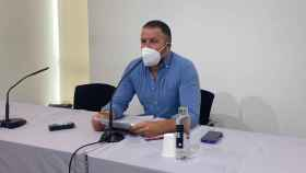 El portavoz del PP, Pablo Ruz, en la mañana de este lunes.