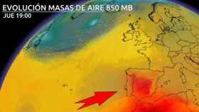 Masas de calor en España previstas para el viernes 11 de junio. Eltiempo.es