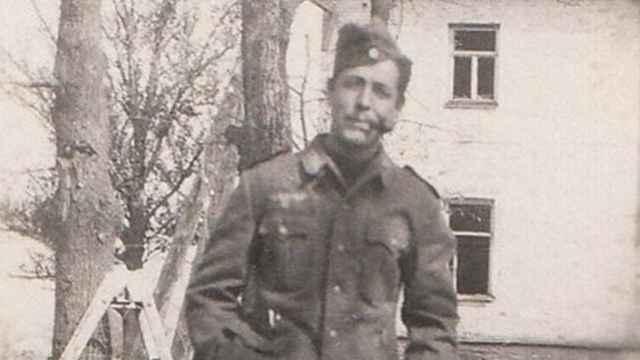 Luis García-Berlanga, en el frente ruso con la División Azul.