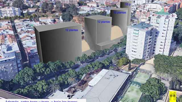 Reconstrucción hipotética de los edificios sobre la necrópolis tartésica.