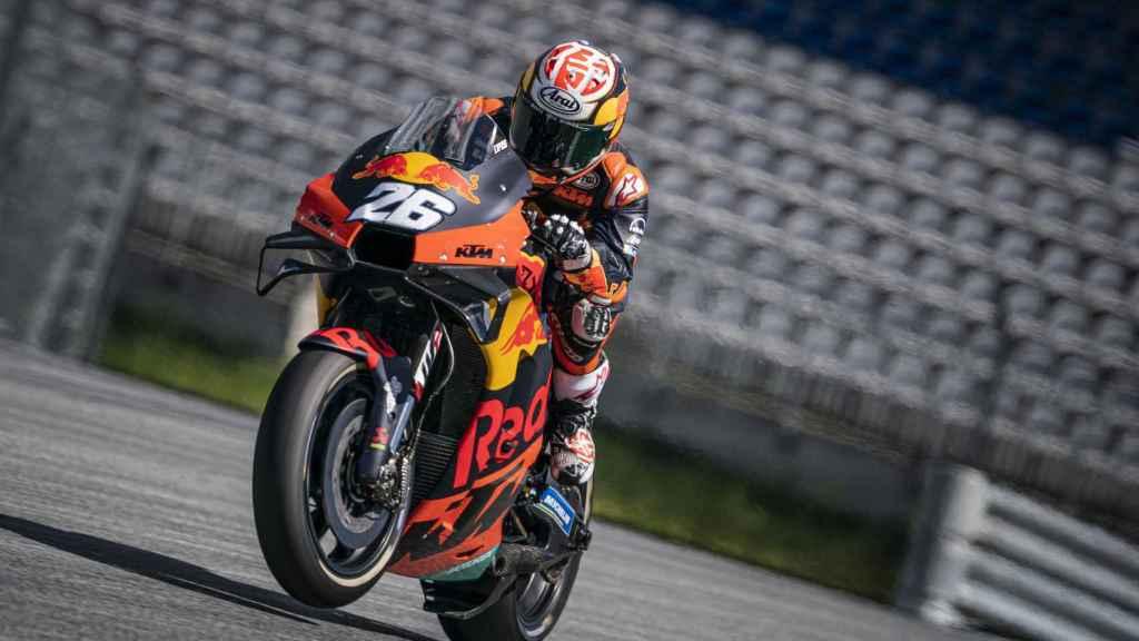 Dani Pedrosa en un test con KTM