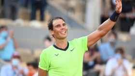 Nadal, tras pasar a los cuartos de final de Roland Garros.