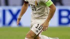 Eden Hazard, en un partido de la selección de Bélgica