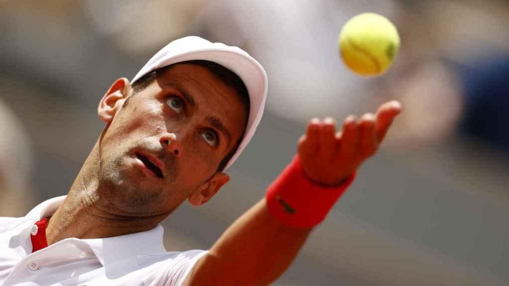 Novak Djokovic, durante Roland Garros 2021