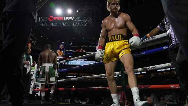 Logan Paul, durante el combate de exhibición ante Floyd Mayweather