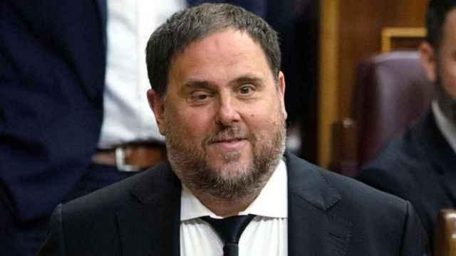 Oriol Junqueras, líder de ERC, en el Congreso de los Diputados.