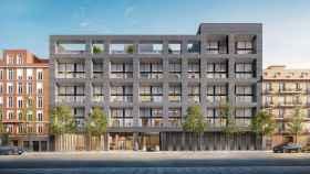 Fachada exterior de 'Alcántara 25', el proyecto residencial de lujo que levanta Princeton en Madrid