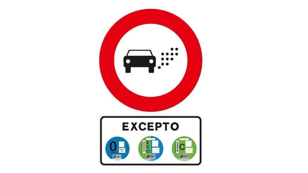 Nueva señal de la DGT para las Zonas de Bajas Emisiones (ZBE).