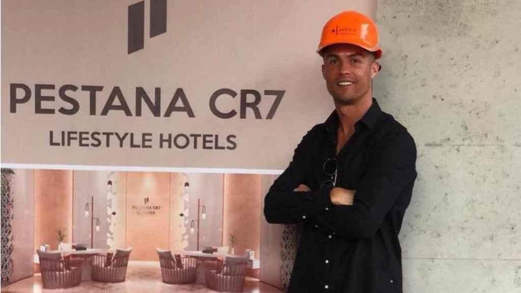 El jugador Cristiano Ronaldo, en uno de sus hoteles Pestana CR7