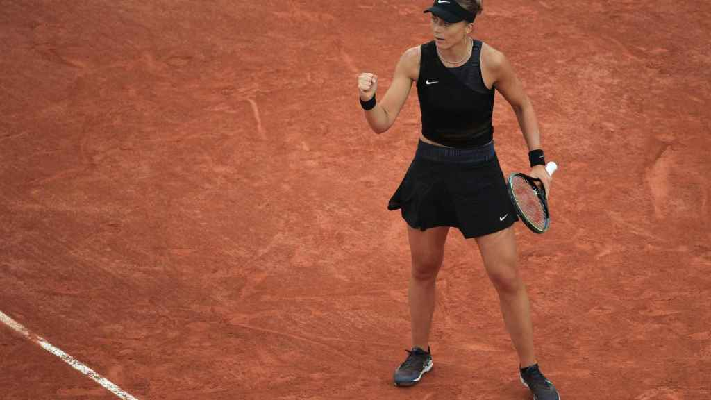 Badosa, en un partido en esta edición de Roland Garros.