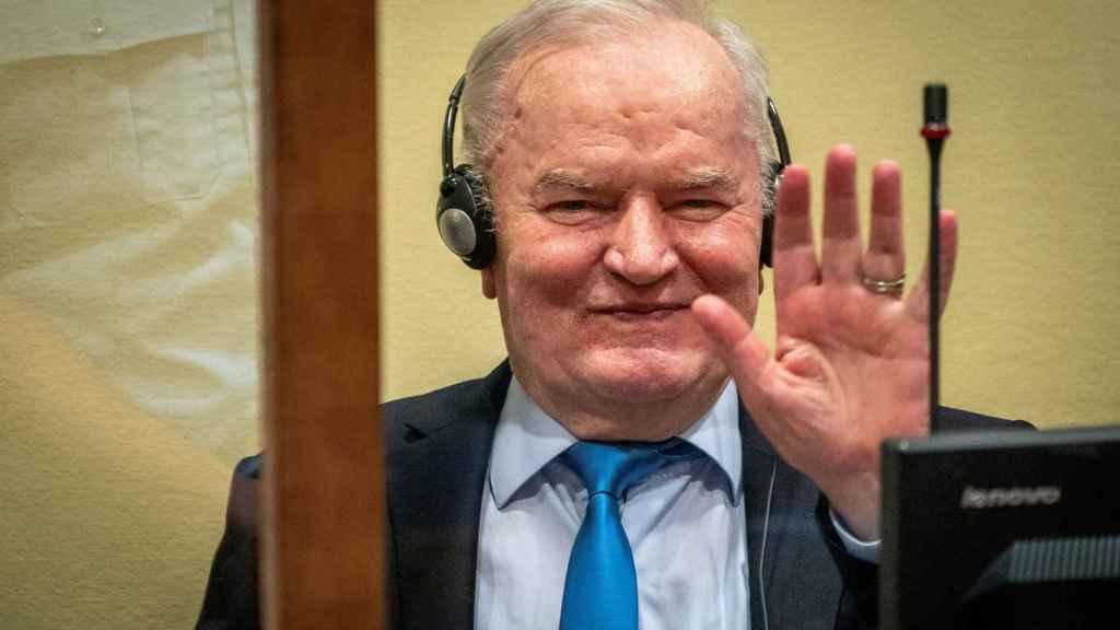 Ratko Mladic durante su comparecencia en el Tribunal de La Haya.