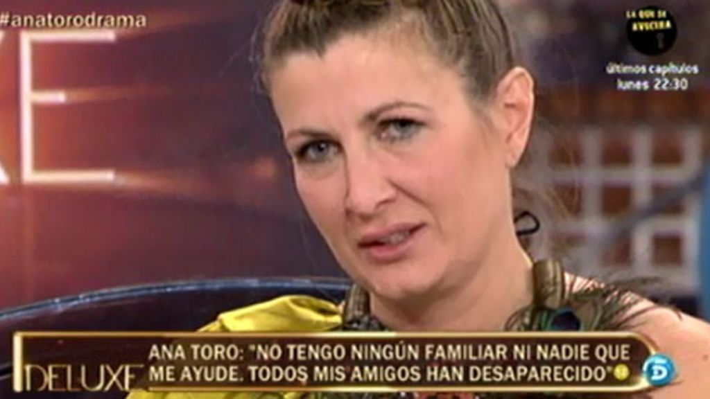 Ana Toro durante su visita a 'Sálvame Deluxe' en 2013.