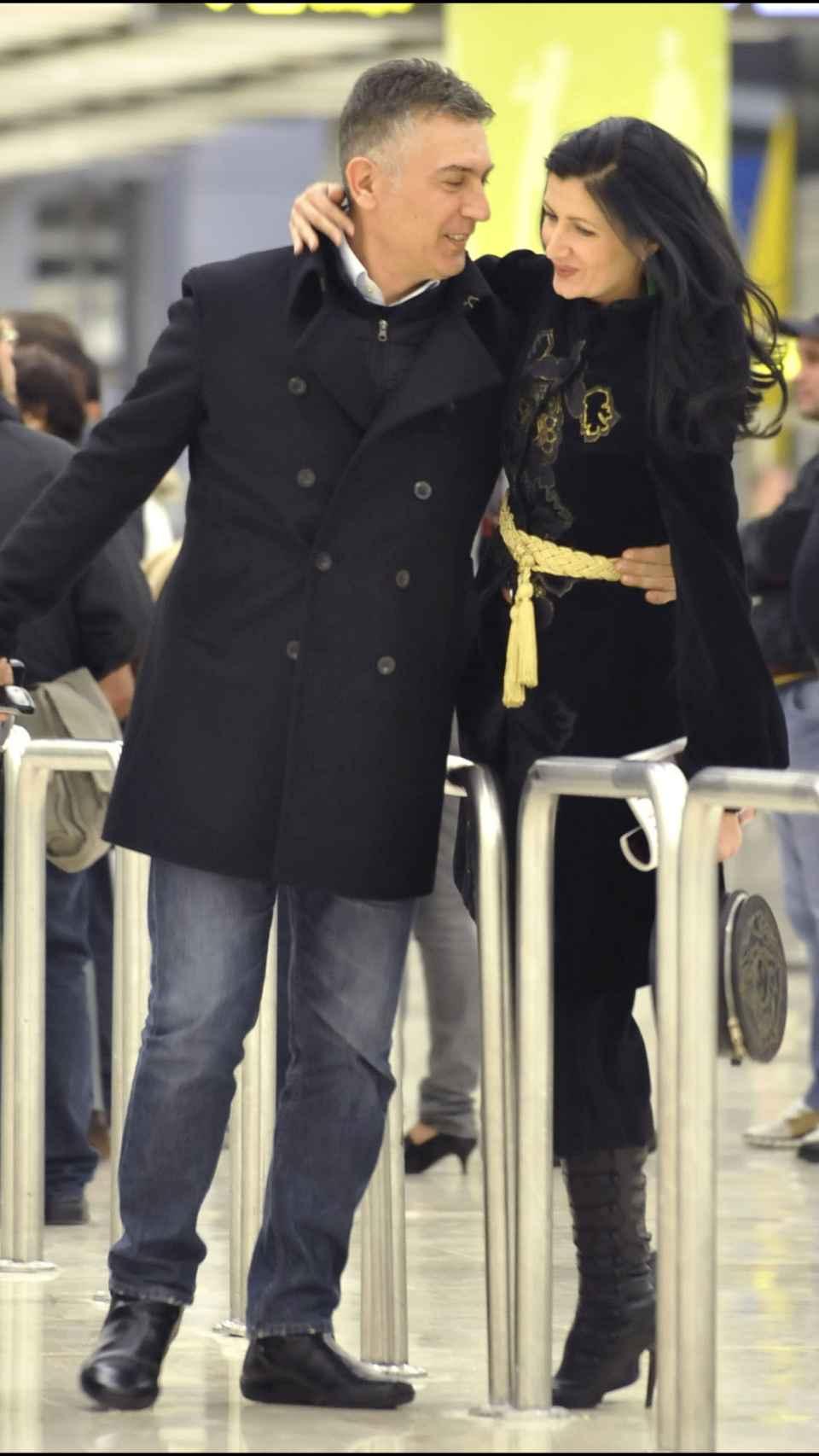 Ana Toro junto a su pareja sentimental de entonces en 2009.