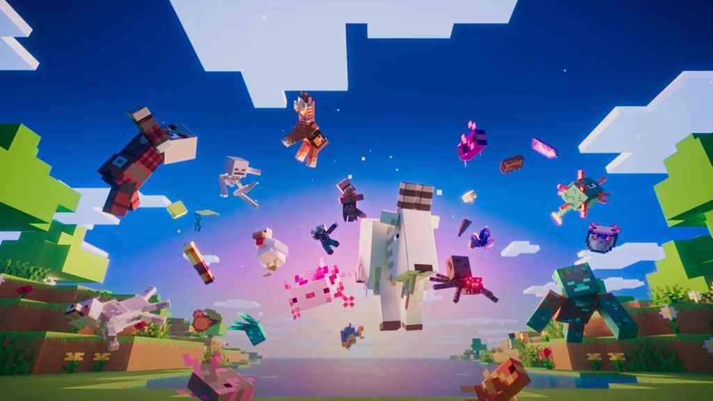Los nuevos mobs de Cuevas y Acantilados en Minecraft