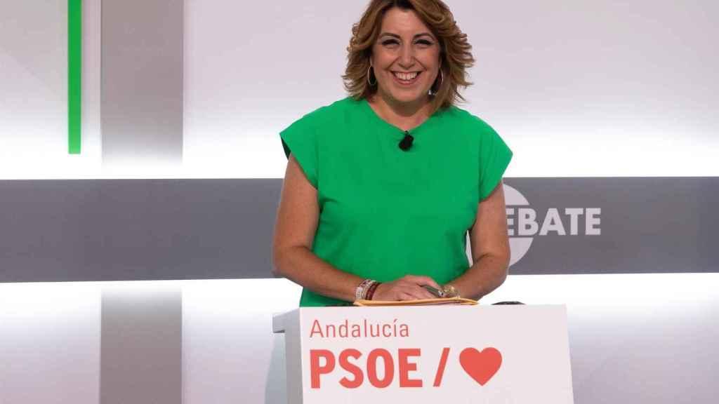 Susana Díaz en el debate de este martes.