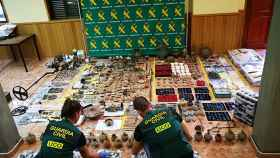 La Guardia Civil interviene piezas falsificadas, en imagen de archivo.
