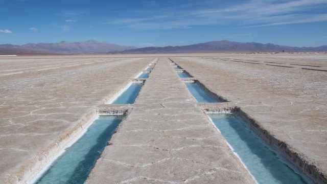 Salinas Grandes, en Jujuy, Argentina, zona de extracción de litio para baterías.