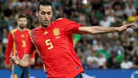 Sergio Busquets, en un partido con la selección española.