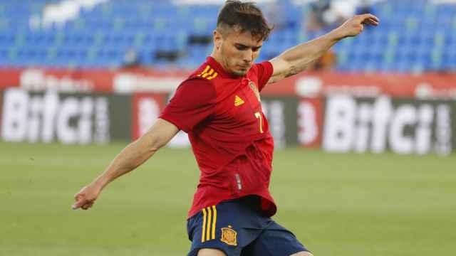 Brahim Díaz, en un partido de la selección española