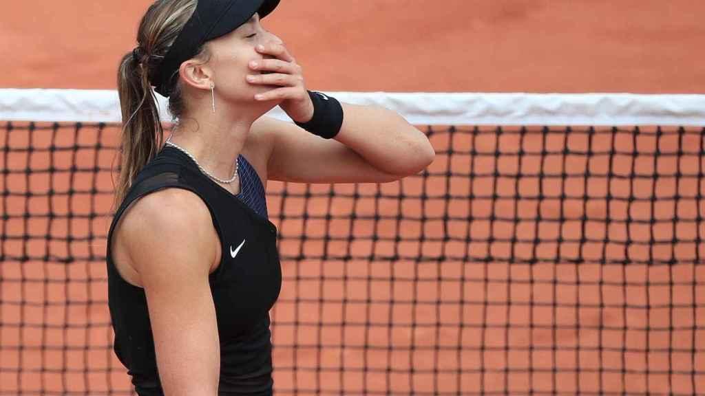 Badosa, tras pasar a los cuartos de final de Roland Garros.