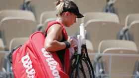 Badosa, tras caer derrotada ante Zidansek en Roland Garros.
