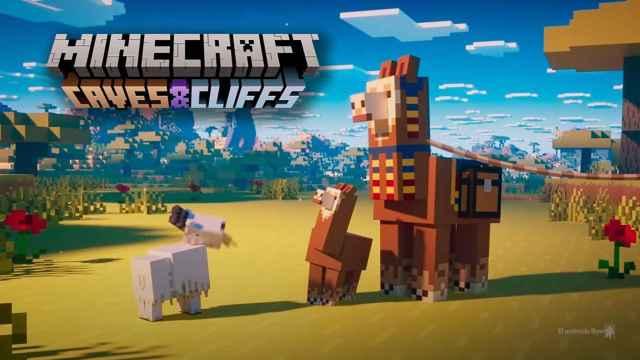 'Cuevas y Acantilados' en Minecraft para Android